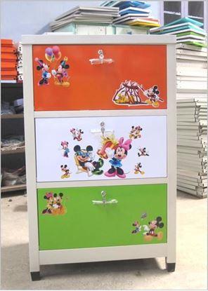 Picture of Tủ trẻ em 3 ngăn - Màu xanh cam
