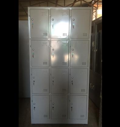 Tủ sắt locker đố nổi 12 ngăn 3 khoang TDN12C3K